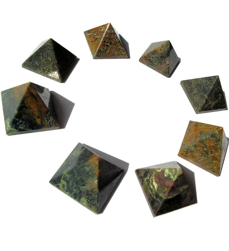 Forest Jasper Crystal Pyramid